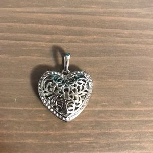 Authentic Origami Owl Filigree Heart Pendant
